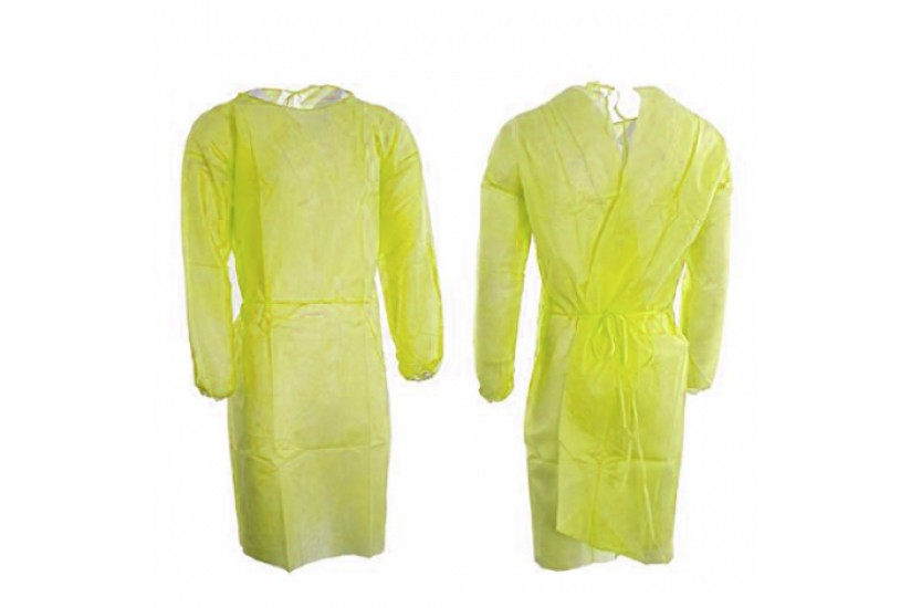 Disposable Level One Isolation Gown - Yellow
