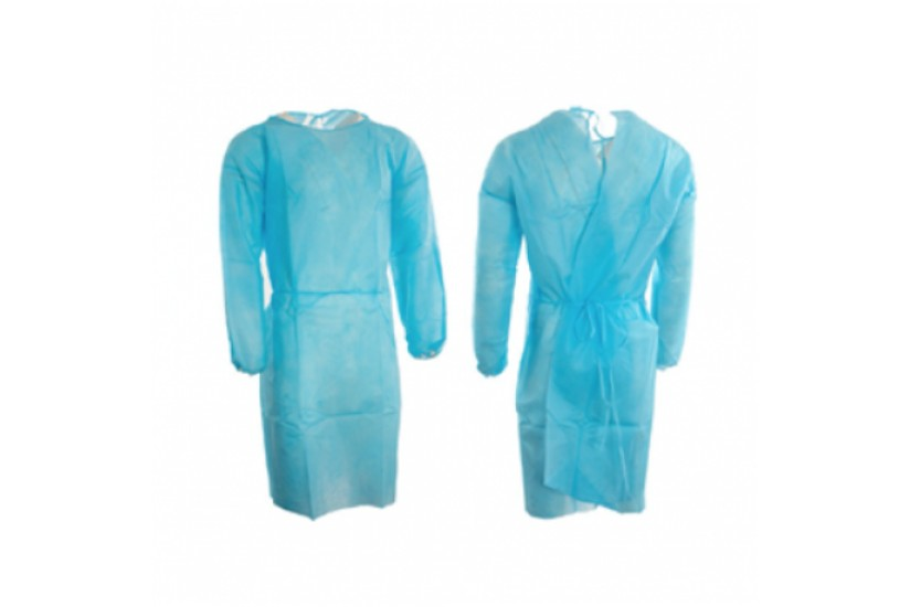 Disposable Level One Isolation Gown - Blue